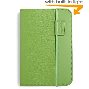 "Kindle Lighted Leather Cover, Green (Fits 6"" Display, Latest Generation Kindle)"