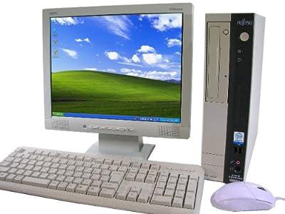 富士通 中古パソコン デスクトップPC 【機種問わず】&液晶15インチ 【メーカー問わず】 動作正常品 キーボード・マウス付 Windows XP Professional搭載!