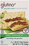 Glutino Gluten Free Toaster Pastry, Apple Cinnamon, 5 Count, Net Wt 9.17 Oz