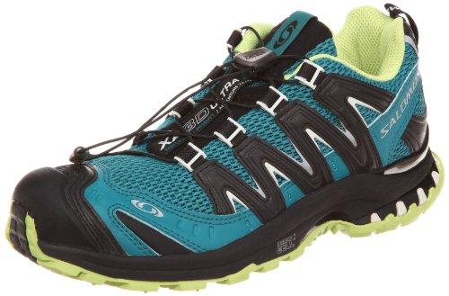 Salomon XA Pro 3D Ultra 2 W 127626, Damen Sportschuhe - Running, Blau (Dark Bay Blue/Black/Light Green Bean), EU 40 2/3 (UK 7)