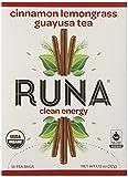 RUNA Clean Energy Organic Guayusa Tea Box, Cinnamon Lemongrass, 16-Count Tea Bags