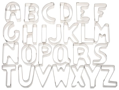 Ateco Alphabet Stainless Steel Cookie Cutter Set Home