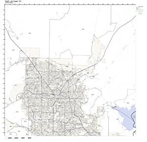Amazon.com: North Las Vegas, NV ZIP Code Map Laminated