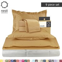Bed-In-A-Bag 9 Piece Complete Bed Sheet Set  Queen Camel ...