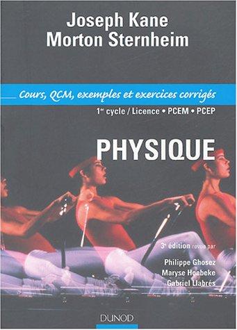 Physique pour les sciences de la vie et de la sant Cours