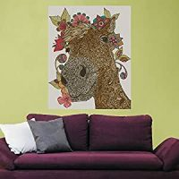 Buy My Wonderful Walls Delilah Floral Horse Animal Art ...