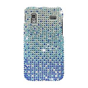 Samsung Full Diamond Bling Hard Shell Case for Samsung i927 Captivate Glide AT&T, Waterfall - Blue