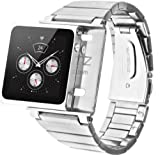 iWatchz Elemetal Watch Wrist Strap for iPod Nano 6G - Silver