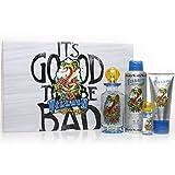 Ed Hardy Villain Set-Edt Spray 4.2 Oz & Body Spray 6 Oz & Hair & Body Wash 3 Oz & Edt Spray .25 Oz Mini