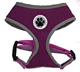 Small Purple Cute Padded Reflective Mesh Dog Puppy Harness No Pull Pet Cat Harnesses, Small Size