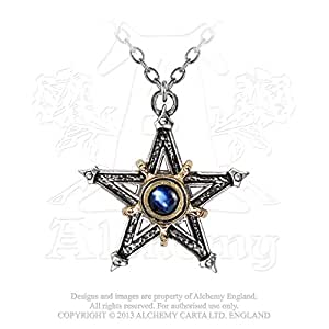 Amazon.com: Womens Medieval Pentagram Crystal And Pewter