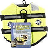 Fido Pet Products Paws Aboard Doggy Life Jacket, X-Small, Safety Neon Yellow