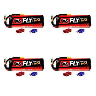 Venom-Fly-30C-4S-3600mAh-148V-LiPo-Battery-with-UNI-20-Plug-XT60DeansEC3-x4-Packs-Compare-to-E-flite-EFLB33004S50