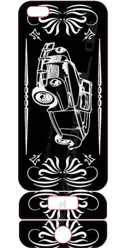 ビクターアドバンストメディア iPhone5/5S デザイナーズデコレーションシール KL-I5CAR-K