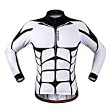 Anhvuu Unisex Long Sleeve Shirt Cycling Jerseys Warm Riding Clothing XL