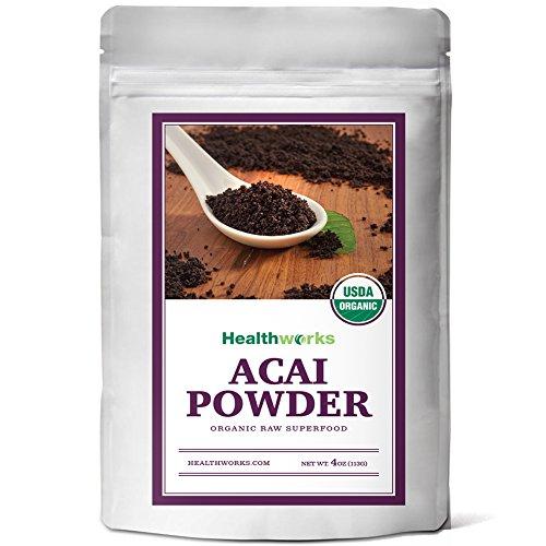 Healthworks Acai Berry Powder Freeze-Dried Raw Organic, 4 Ounce
