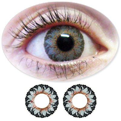 Farbige Kontaktlinsen Monatslinsen Fun Picasso Grey /Graue ohne Stärken / Dioptrien