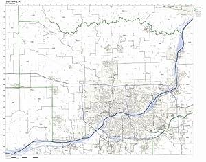 Amazon.com: Scott County, Iowa IA ZIP Code Map Not