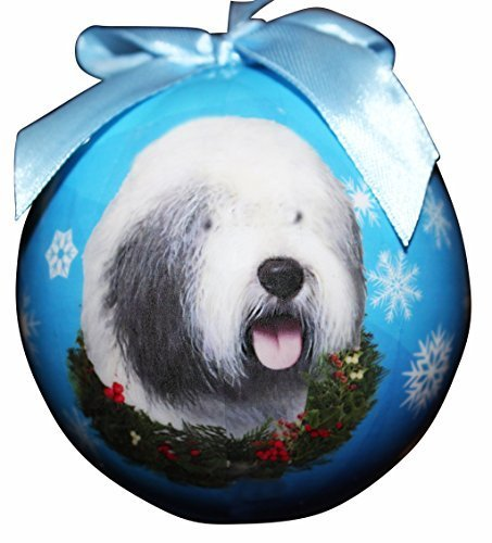 Old English Sheepdog Christmas Ornament