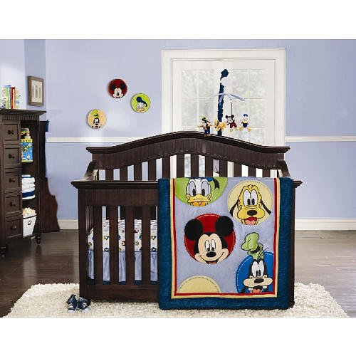 Magical mickey mouse nursery adorable bedding and decor for Best value baby crib