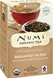 Numi Organic Tea Fair Trade Breakfast Blend, Black Tea, 18 Count Tea Bags (Pack of 3)