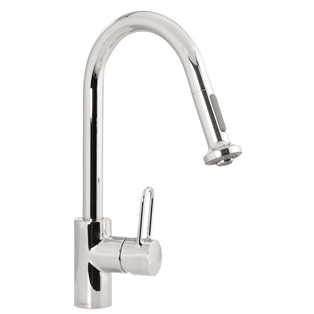 kitchen faucet with handspray rustic light fixtures hansgrohe metro e high arc 2 function pull