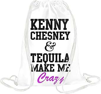 Amazon.com: Kenny Chesney And Tequila Make Me Crazy Funny Slogan Drawstring bag: Clothing