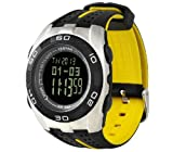 MAYMOC Outdoor Sports Watches Waterproof with Altimeter Barometer Hiking Strap Watch Temperature Pressure Measurement(White)