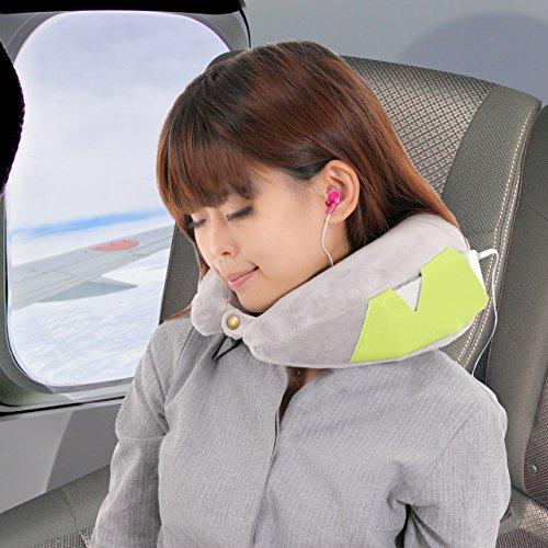 (フォーパリー) Foppery ネックピロー 首まくら 心地良い 低反発 コンパクト 手のひらサイズ スーツケース 取り付け 可能 持ち運びに 便利 旅まくら (グレー)