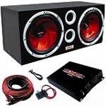 XXX Car Audio Pair 12″ Subs/Car Amp Kit/Sub Box for $175.99 + Shipping