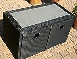 Rattan Sitzgruppe Gartenmöbel Tisch Sessel Hocker Neapel 2+2