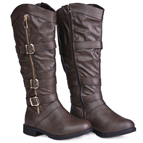 Twisted Women S Amira Wide Width Wide Calf Faux Leather