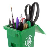 Mini Curbside Trash and Recycle Can Set Pencil Cup Holder ...