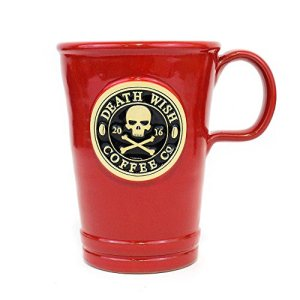 2016-Edition-Collectible-Death-Wish-Coffee-Ceramic-Mug-Cherry-Red-Handmade-in-the-USA-16-Ounce