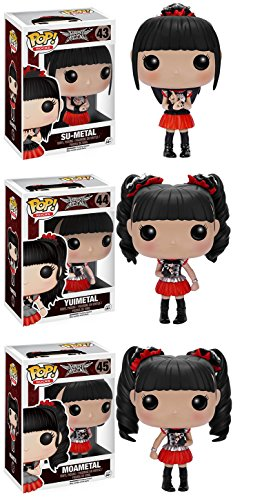 POP! Rocks: Babymetal Su-Metal, Yuimetal, Moametal! Vinyl Figure! Set of 3