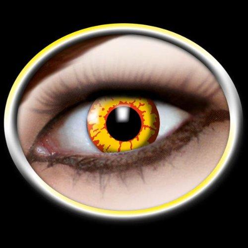 Motivlinsen Kontaktlinsen farbig mit Motiv - Ork + Etui + Reinigungsflüssigkeit