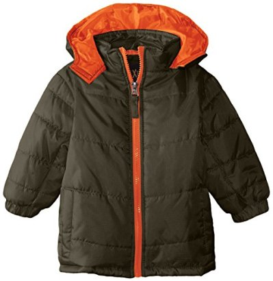 iXtreme-Baby-Boys-Ripstop-Puffer-Pop-Color-Zipper-Forest-18-Months