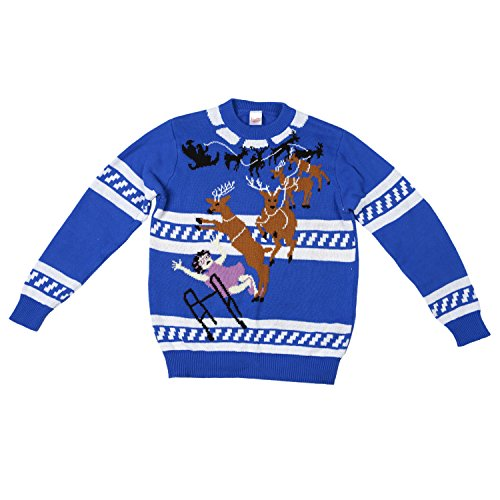 Granny Got It Ugly Christmas Sweater-FunQi, Blue (Large)