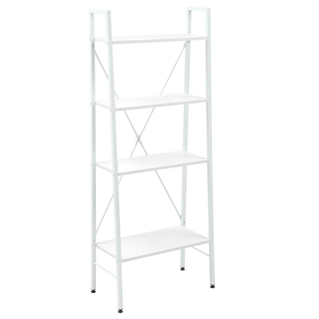 Langria 4 Shelf Ladder Bookcase Freestanding Leaning