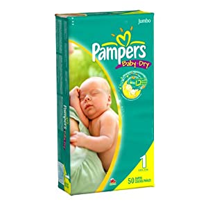 Amazoncom Pampers Baby Dry Diapers Jumbo Pack Size 1
