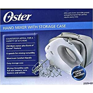 Oster 2529-426 Hand Mixer with Storage Case