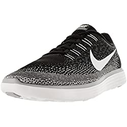 Nike Men's Free Rn Distance Black/White/Dark Grey/Wolf Grey Running Shoe 10.5 Men US
