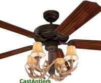 Antler Ceiling Fan With Light | WANTED Imagery