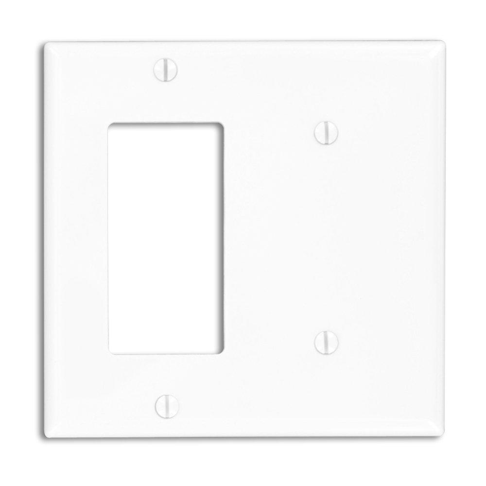 Leviton 80708-W 2-Gang 1-Blank Decora/GFCI Device