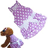 Binmer(TM)New Dog Clothes Puppy Dog Princess Dress Summer Sweet Dog Camisole Skirt Pet Dog Bowknot Tutu Dress (XS)