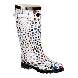 Product Image Women's Dots Spots Rain Boots - Gray