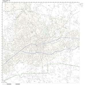 Amazon.com: ZIP Code Wall Map of Winston-Salem, NC ZIP