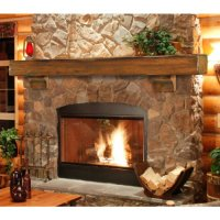 New Pearl Mantels Shenandoah Traditional Rustic Made Wood ...
