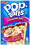 Pop-Tarts, (Semi-Frosted) Cinnamon Roll, 8-Count Tarts (Pack of 12)