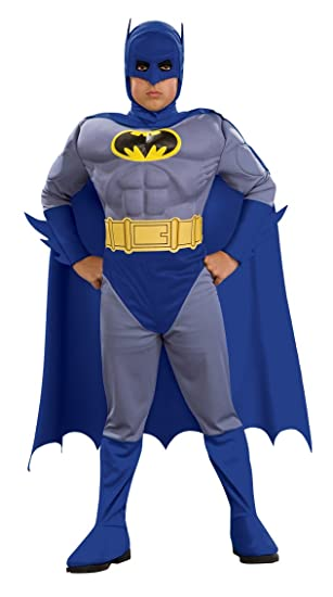 Batman Deluxe Muscle Chest Batman Child's Costume, Medium